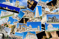 A collage of my best travel photos of famous Landmarks from European cities Royalty Free Stock Photo