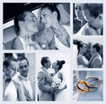 Collage of nine wedding photos Stock Photo