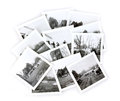 Collage noir et blanc de photos de cru Photographie stock