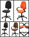 Collage of Office chairs Royalty Free Stock Photo