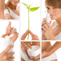 Collage photo of wellness concept Stock Image