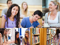 Collage of pictures showing students in classroom Stock Photography