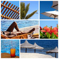Collage resort Royalty Free Stock Photos