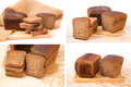 Collage of rye bread Royalty Free Stock Photo