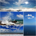 Collage of sea landscapes Royalty Free Stock Photo