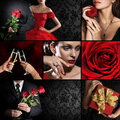 Collage of several photos for holiday theme Royalty Free Stock Photo