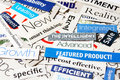 Collage smart of paper headlines about the world economy Royalty Free Stock Photography