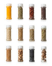 Collage of spices isolated on white background Royalty Free Stock Photography