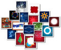Collage of stamps for new year Royalty Free Stock Images