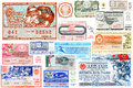 A collage of state lottery tickets USSR