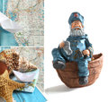 Collage of summer decoration with seashells and maps Stock Photo
