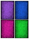 Collage of textured backgrounds in rich saturated jewel tones beautiful Royalty Free Stock Photos