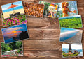 The collage on the theme of Bali, Indonesia Royalty Free Stock Photo