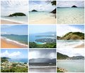 Collage of View Point  - Kata, Karon, Patong in Thailand Royalty Free Stock Image