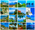 Collage from views of Capri, beautiful and famous island Royalty Free Stock Photo