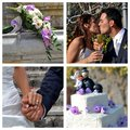 Collage wedding the best moments of the Royalty Free Stock Image