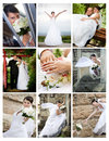 Collage of wedding photos Royalty Free Stock Photos