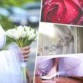Collage of wedding time sensational Stock Image