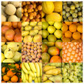 Collage of yellow and orange fruits Royalty Free Stock Photo