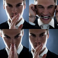 Collage young male white collar criminal Stock Image