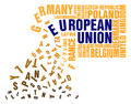 Collapse of European Union Royalty Free Stock Photo