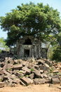 The collapse palace in beng mealea cambodia is Stock Photos