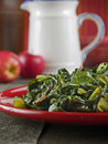 Collard greens & bacon Royalty Free Stock Photography