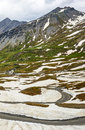 Colle dell agnello french alps hautes alpes provence alpes cote d azur france mountain landscape at summer Stock Images