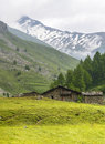 Colle dell agnello val varaita cuneo piedmont italy mountain landscape at summer Royalty Free Stock Photos