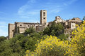 Colle di val d elsa italy town with residential buildings below tuscany Royalty Free Stock Photo