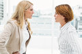 Colleagues in an argument at office business female Royalty Free Stock Photography