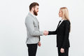 Colleagues business team shaking hands. Royalty Free Stock Photo