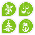 Collect Christmas Sticker Stock Photos