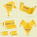 Collect Paper Origami Banner Royalty Free Stock Images