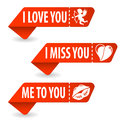 Collect Valentines Day Signs Stock Photos