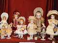 Collectible dolls at the international salon of in moscow the shot was made in october Stock Photo