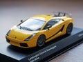 Collectible model of lamborghini gallardo superleggera giallo mi los angeles ca usa august midas Royalty Free Stock Photos