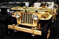Collectible old ww2 jeep vehicle Royalty Free Stock Photo