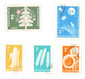 Collectible postage stamps from Bulgaria Stock Photos