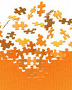 Collecting puzzle wall Royalty Free Stock Photo