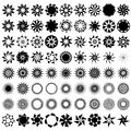 Collection of 72 star icons. Royalty Free Stock Images