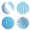 Collection of abstract globe icons vector illustration the Stock Images
