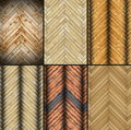 Collection of abstract parquet textures for your design Royalty Free Stock Photos