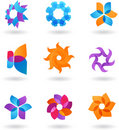 Collection of abstract star icons and logos Royalty Free Stock Photography