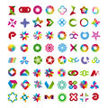 Collection of abstract symbols vector Stock Image