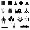 Collection of abstract symbols Vector illustration Royalty Free Stock Photo