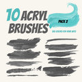 Collection acryl brushes, Grunge elements with paint styl