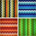Collection of aged wavy patterns Stock Photo