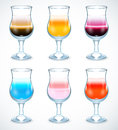 Collection of alcohol coctails icon this is file eps format Royalty Free Stock Photos