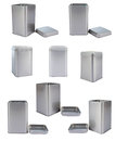 Collection aluminum Box Royalty Free Stock Photo